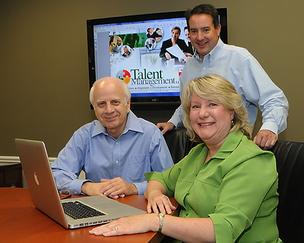 Talent Management's top executives, from left: Allan Payne, Mike Meszaros and Jackie Messersmith, have experience in entrepreneurship, human resources and information technology.