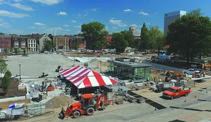 Over-the-Rhine's Washington Park is only one of many development projects in the neighborhood. In May, Messer Construction will begin work on the $58.5 million Mercer Commons, featuring condos, apartments and commercial and office space.