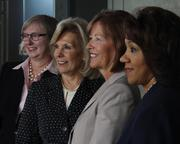 First Financial Bancorp counts four women on its board, from left: Corinne Finnerty, Maribeth Rahe, Susan Knust and Cynthia Booth.