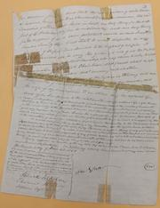 This document was signed by Ethan Stone, one of the first contributors to what is now the University of Cincinnati. It details his 1852 trust, which still makes contributions to UC.