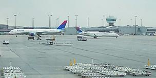 The Cincinnati airport is dominated by Delta Air Lines Inc. flights.