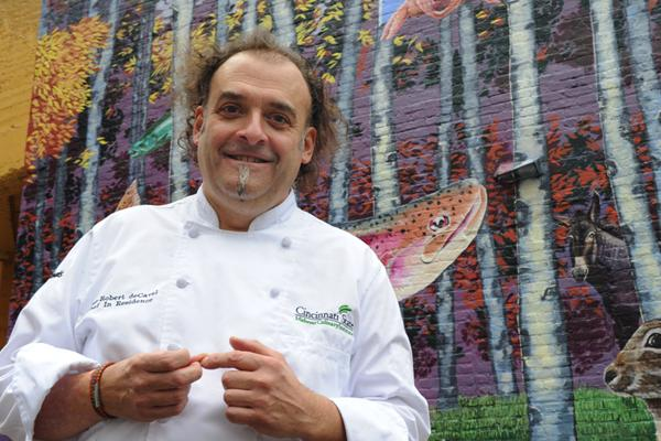 Chef Jean-Robert de Cavel, owner of Jean-Robert's Table downtown, is working with the Midwest Culinary Institute to develop a restaurant accelerator on Short Vine Street in Corryville.