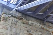 Stone and concrete from the Purple People Bridge are falling from support piers on both sides of the river. First opened in 1872, it was turned into a pedestrian-only bridge in 2003.