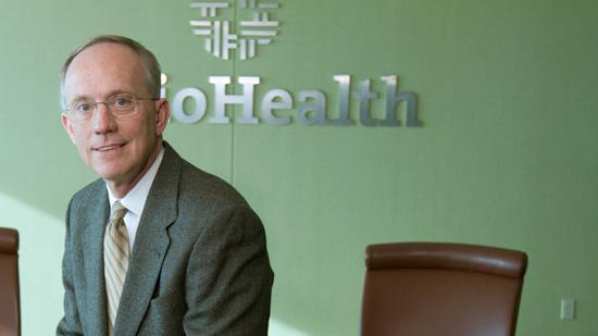 OhioHealth CEO Dave Blom projeced the Columbus hospital system would grow in 2013.