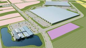 A rendering of the Team Gemini's industrial park.