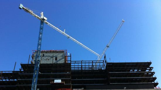 Construction is ongoing at Ohio State University's Wexner Medical Center with an expected opening in January 2015.