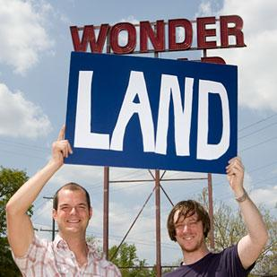 Adam Brouillette, right, pictured with Kevin Lykens, said the Wonderland Columbus group couldn't strike a deal to buy the former Wonder Bread bakery building in Columbus.
