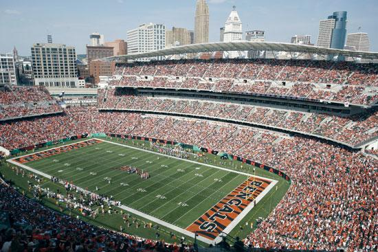 The Bengals beat the defending Super Bowl champion New York Giants 31-13. But they only drew 56,614 fans.