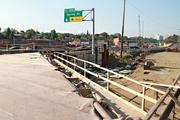 The new and old Spring Street exits heading south on I-71.