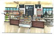 The downtown store will offer ready-made food selections made popular at the Worthington flagship.  Click on the following images for exterior views of the proposed store and a photo of the developer behind the project inside the building as it looks today.
