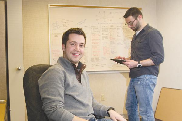 Tackk.com co-founders Eric Bockmuller, left, and Dan Klammer are using the 10x program to develop their business allowing people to create and share web pages.