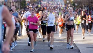 The Nationwide Better Health Columbus Marathon on Sunday attracted a record 15,000 participants.