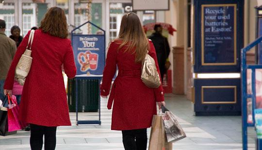 Central Ohio retailers benefited from a 12.8 percent rise nationwide in Black Friday weekend spending.