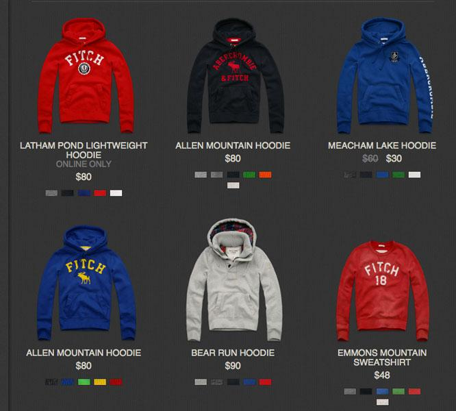 Hoodies with the Abercrombie & Fitch brand prominently displayed may get harder to get.