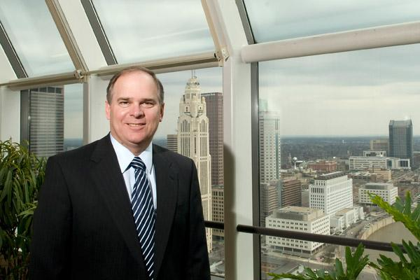 """AEP CEO Nick Akins said Thursday that the company is """"not actively looking at"""" moving its headquarters outside of Ohio. (File photo)"""
