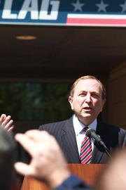 NHL Commissioner Gary Bettman told a lunch-hour crowd on Friday that a new era of hockey has begun in Columbus.