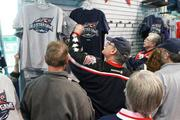 Fans found 2013 NHL All-Star Game gear at the Columbus Blue Jackets team shop on Friday.