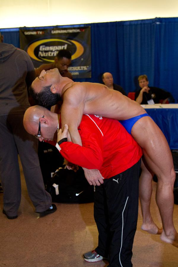 Competitors began arriving Thursday for the Arnold Sports Festival. Click on the slideshow to see some of the scene at registration.