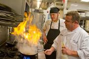 The menu is overseen by Executive Chef James Kluesener, right, and Sous Chef Josh Kayser.