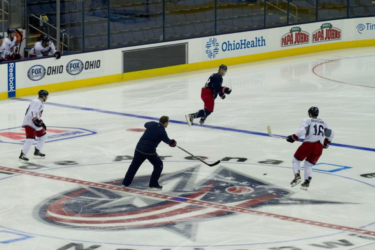 Columbus Blue Jackets players and coaches hit the ice this week to prepare for the NHL's compressed schedule.