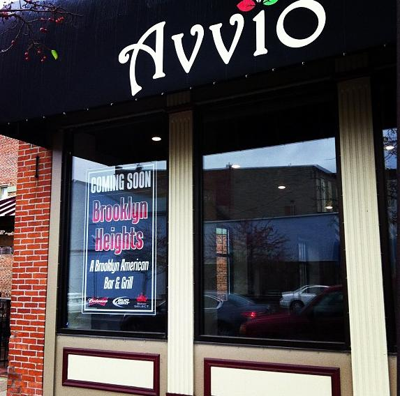 The former Avvio restaurant, as seen in this photo from November, has been turned into Brooklyn Heights Bar & Grill.