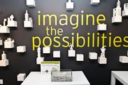 """The Lego exhibit allows visitors to create a sculpture and """"imagine the possibilities."""""""