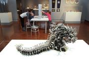 """""""Think Outside the Brick: The Creative Art of Lego"""" displays several artists' Lego art."""