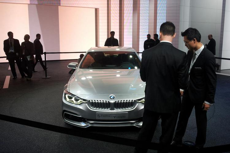 BMW showed off the concept version of its new 4 Series coupe at the Detroit Auto Show on Monday.