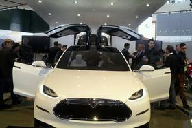 The Tesla Model X crossover is expected to go on sale next year.