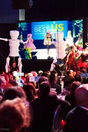 A capacity crowd at the Greater Columbus Convention Center was treated to a runway show of Highball fashions.