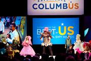 Columbus drag queen Nina West led the show by lip-synching to Lady Gaga.  Click the following images to see more costumes that were worn at 2011 Highball Halloween celebration in October.