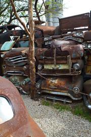 Another rusted attraction new this year is a junkyard pile of discarded autos.
