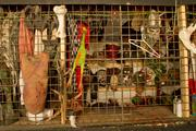 A storage area is full of body parts, creatures and other props.