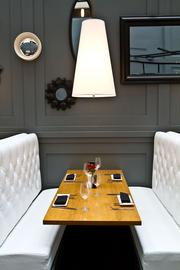 One of the restaurant's romantic booths.