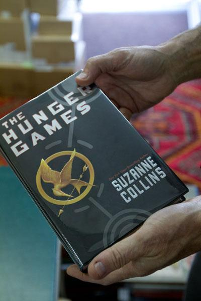 Bookseller Ed Hoffman's copy of 'Hunger Games' carries the same cover as current editions, but click on the next photo to see how to find out if it's a first edition.