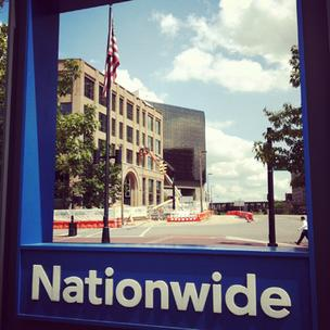 Nationwide's latest office building is going up across the street from Nationwide Arena. It's expected to be ready in December.