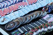 With that many Obama enthusiasts gathering, commerce was close behind as vendors sold buttons supporting the president.
