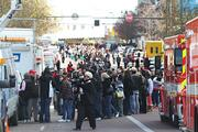 The crowds, the TV trucks and security meant traffic around the arena was snarled for hours.