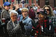 Despite the long lines and the waiting, many Obama supporters remained enthusiastic.