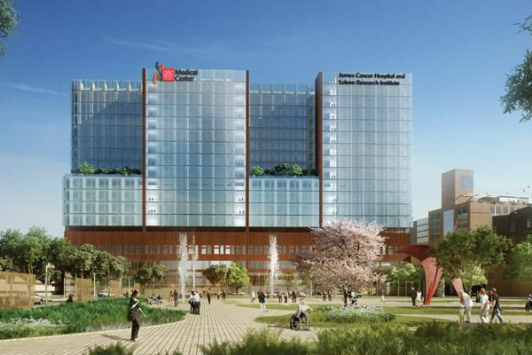 The Ohio State University Wexner Medical Center, which expects to open its new tower next year, is the top hospital in Ohio, according to U.S. News & World Report.