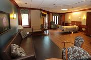 Rooms are designed to be welcoming for patients' family and friends.