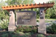 A new Kobacker House sign welcomes visitors to the expanded complex.