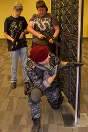 Mindgame Productions has a first-person live-action shooter event in Ballroom 3 where you can battle your way through an Airsoft course.