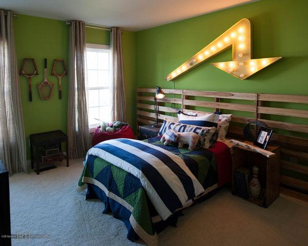 One of Hammond Harkins' contributions to the Parade house is a lit metal arrow in a children's bedroom.