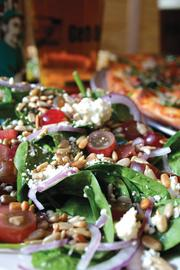 It also offers a range of salads, including one with spinach, red onions, gorgonzola and red grapes.