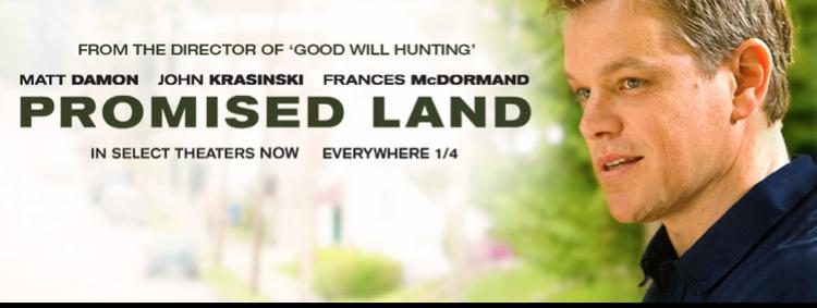 The film Promised Land is drawing arguments from both sides of the fracking debate.