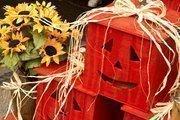 Orange pumpkin crafts.