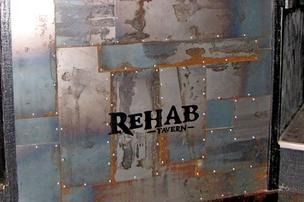 The new Rehab Tavern in Franklinton lives up to its name by using rehabilitated and repurposed material from the former tenant in the space and elsewhere.