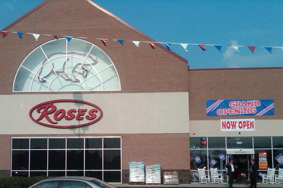 Roses took over a former Big Bear for its second area store on the northeast side. Click on the next photos for interior views of the store.