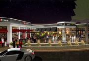 A rendering shows how the north side of the renamed Shops at Worthington Place will look under redevelopment by Worthington Square Ventures, which acquired the retail complex in 2010.
